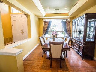 Another angle of formal dining room