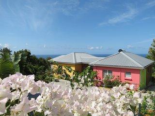 Gîtes créoles d'exception Racines é Zel face à la Mer des Caraïbes