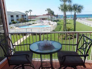Excellent location in Destin with gulf views and only steps to the beach.