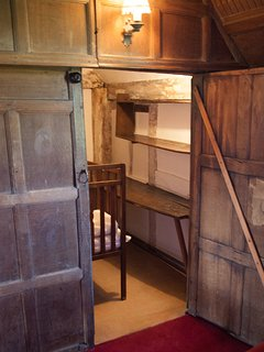 Medieval cupboard in the Oak bedroom.