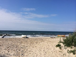 Nur wenige Schritte an die Ostsee...