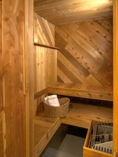 Sauna, in the downstairs bathroom