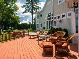 Plenty of outdoor space to sit and relax on two decks and one patio.