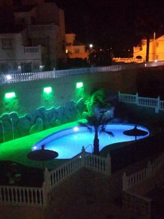 The pool by night