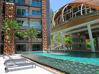 Modern studio in Patong with kitchen, washer, gym and pool 503