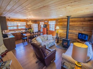 Charming Log Cabin w/ Deeded Beach Access
