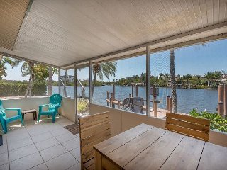 3BR/2BA Waterfront Home on Estero Bay w/ Private Dock & Patio