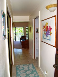 When you walk through the entry you're greeted with the feeling of Kauai!
