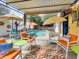 Historic La Quinta Bungalow w/ Private Pool & Remarkable Garden Courtyards
