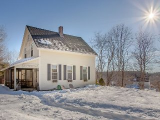 Waterfront Storybook Maine Farmhouse – Wildflower Fields & Rolling Hills