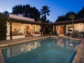 Private 4BR, 4BA Hacienda-Style Palm Springs Home w/ Pool and Patios