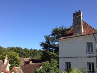 Large, luminous holiday home with garden & forest in village close to chateaux.