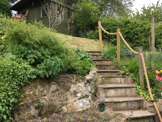 Steps to summer house