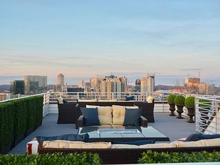 Rooftop Deck w/ Panoramic Views of Downtown from Brand New 3BR/3.5BA House