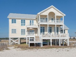 Wastin Time Luxury 6BR, 5.5 BA Home on West Beach with Gulf-Front Decks