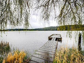 Peaceful Lakefront Escape w/ Hot Tub and Private Dock, Langley