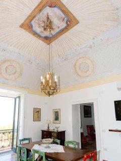 wonderful fresco in the living room