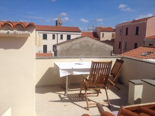 Sleeping in an ancient closter. Studio with private terrace with seeview.