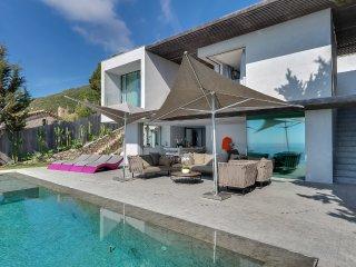 Somptueuse villa, vue mer a 180o, a Ramatuelle