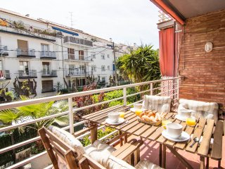 Large and only seconds from the beach of Sitges.