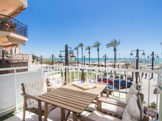 Beach front property with stunning sea views in Sitges.