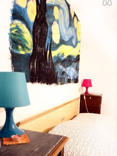 Dettaglio della camera da letto.