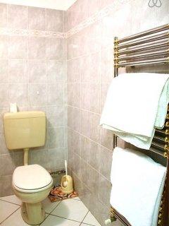 Il bagno con gli asciugamani forniti.