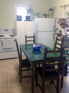 Guests can bring their own food and drinks.  Pots,pans, dishes, appliances are all available to use.