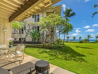 Kaha Lani #115, Ocean View, Ground Floor, Steps to Beach & Coastal Bike Path