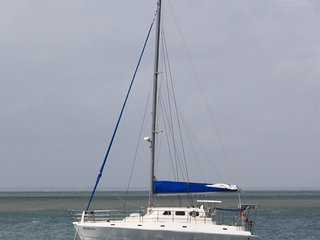 Large Catamaran at the Beach