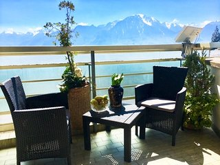 12. Beautiful Lakeview - mountain,   modern, spacious apartment, large  balcony,