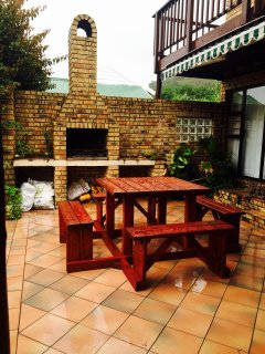 Outside Braai / BBQ area and seating