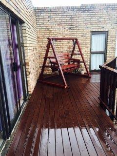 Upstairs Balcony Swing - Seating Area