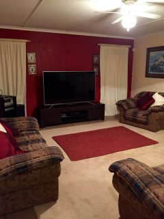 Upstairs Living Area with 65 inch SMART Flat screen TV