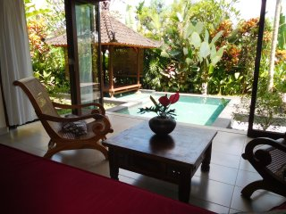 Pool & View Over the Rice Fields in Penestanan, Ubud