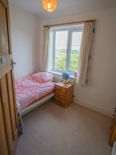 Single bedroom and countryside views