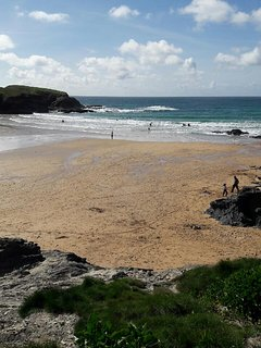 Treyarnon Bay is great for families and has a YHA for food and drinks and a great food van.