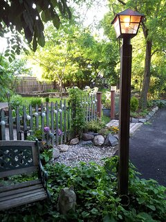 Entrance to back yard/garden area.