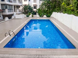 Pleasant 1-BR apartment with a pool, 900 m from Chapora beach