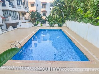 Lavish family retreat in an apartment, 900 m from Chapora beach, Vagator