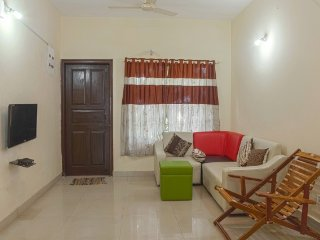 Lavish family retreat in a 2 BHK, 900 m from Chapora Beach