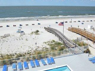 Spacious beachfront condo w/enclosed Balcony ~ Bender Vacation Rentals