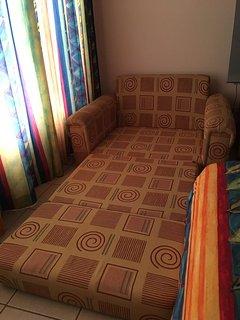 Main bedroom. Twin foldable sofa bed