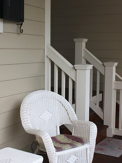 Enjoy a cup of coffee on the front porch.