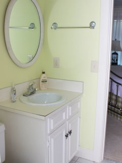 The Jack n Jill bathroom connects the 2nd and 3rd bedrooms.
