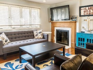 Updated family home near Flax Pond w/ cozy fireplace & gas grill!