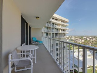 Oceanfront condo with boat slip, shared pool, tennis, and direct beach access!