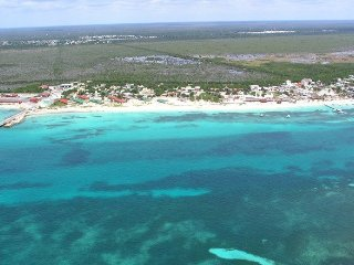 Aerial view of Puerto Morelos