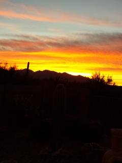 Start your morning with a beautiful sunrise and a cup of coffee on the patio