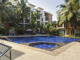 Elegant studio apartment with a pool, close to Baga Beach